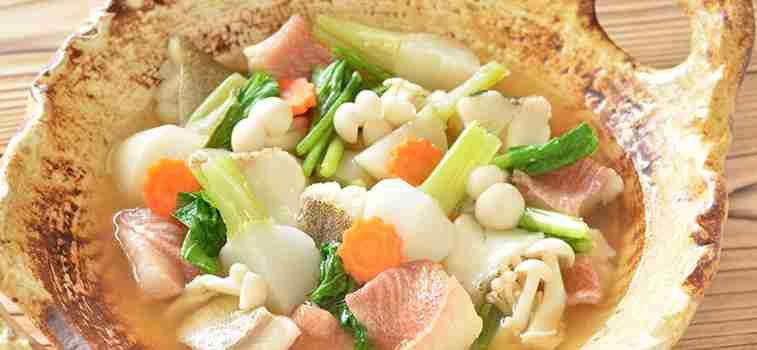 高蛋白・低脂肪 野菜たっぷりタラ鍋